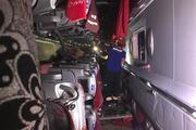 Karamanda yolcu otobüsü devrildi