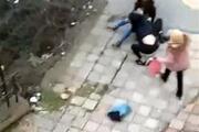 Sokak ortasında inanılmaz kavga