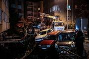 Beşiktaşta duvar çöktü