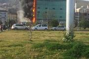 Trabzonda Avrasya Üniversitesinde yangın