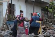 Trabzondaki sel sonrası evlerine ilk kez geldiler