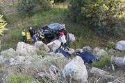 Şarampole yuvarlanan otomobildeki anne- kız öldü