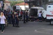 Edirne'nin Meriç ilçesinde göçmenleri taşıyan araç kaza yaptı