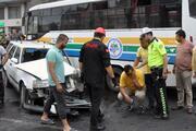 Kazadan sonra şoka girdi... Polis teselli etti