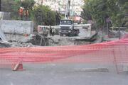 İstanbulda caddede çökme