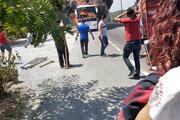 Balıkesirde yolcu otobüsü yandı