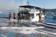 Bebek sahilinde teknede yangın çıktı