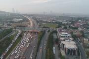 15 Temmuz Şehitler Köprüsünde trafik yoğunluğu drone ile görüntülendi