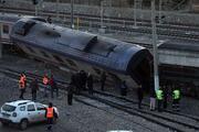 Ankarada boş tren raydan çıktı