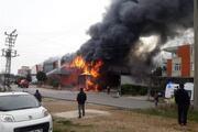 Antalyada soğuk hava deposunda yangın