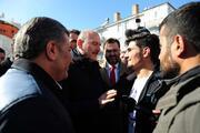 Suriyeli Mahmut, Bakanlar Soylu ve Koca ile enkazda görüştü