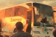 Antalyada yolcu otobüsünde yangın