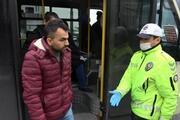 Sultangazide ayakta yolcu taşıyan minibüsten sağlık görevlileri çıktı
