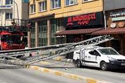 63 metrelik itfaiye merdiveni kırıldı: 1 ölü, 1 yaralı