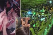 Corona virüse aldırmadan Haliçte yat partisi düzenlediler