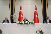 Cumhurbaşkanı Erdoğan, şampiyon Başakşehiri kabul etti