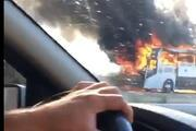 Çekmeköyde yolcu otobüsünde yangın