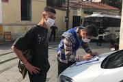 Taksimde maske denetimi yapıldı