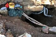 Kaçak kazı yaptıkları tünele, havalandırma sistemi kurmuşlar