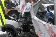 Beşiktaşta sivil polis aracı, trafik polisi aracına arkadan çarptı: 3 polis yaralandı