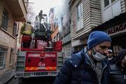 İstanbul Fatihte panik yaratan yangın