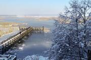 Düzcedeki Efteni Gölü Buz Tuttu