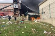 Arnavutköyde ayakkabı fabrikasında yangın