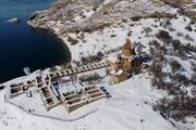 Akdamar Adası kış mevsiminde büyülüyor