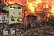 Bir köy kül oldu Artvindeki yangından dikkat çeken kareler