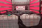 Büyükçekmecede 9 ton asetik anhidritin ele geçirildiği operasyon anı