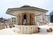 Yapımı tamamlanan Taksim Camiinde son durum