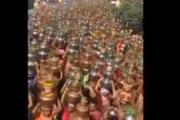 Hindistanda akılalmaz anlar: Binlerce kadın koronavirüsü kovmak için böyle yürüdü