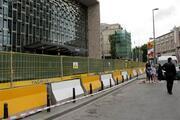 AKM inşaatı önündeki demir panolar kaldırıldı