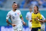EURO 2020de İsveç - Slovakya maçından fotoğraflar