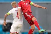 Rusya - Danimarka maçından öne çıkan fotoğraflar