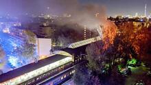 Almanya büyük bir facia atlattı İçinde 760 kişi olan tren yandı