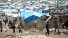 Türkiye sınırındaki kampta çok acı olay