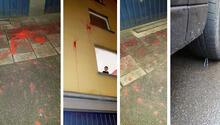 Türklerin yaşadığı binaya boyalı saldırı