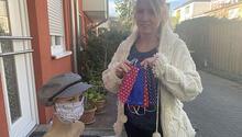 Maske diken Alman kadın Türk komşularını unutmadı