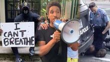 Dünyaca ünlü isimden George Floyd için görülmemiş protesto