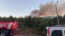 Son dakika haberi: Ataşehir Kayışdağında korkutan orman yangını