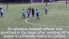 İngiltere'de futbolcu hakeme saldırdı 'Sahada öldürüleceğimi sandım'