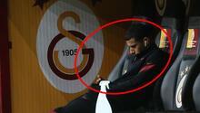 Son dakika haberi | Galatasarayda Belhandanın dikkat çeken görüntüsü Mutsuz ve tek başına...