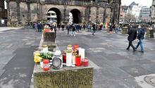Almanya'daki araç saldırısında hayatını kaybedenler için anma töreni