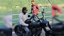 Zlatan Ibrahimovic'im ölümle dansı Tanımadığı birinin motosikletine bindi…