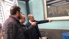 Cebeci'den saldırıya uğrayan camiye ziyaret