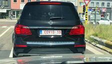 Bin Euro'ya 'Covid-19' plakası