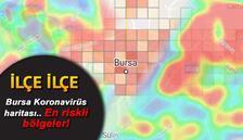Bursa koronavirüs risk haritası.. İlçe ilçe Bursa'nın koronavirüs tablosu