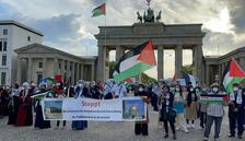 Berlin'de İsrail protestosu