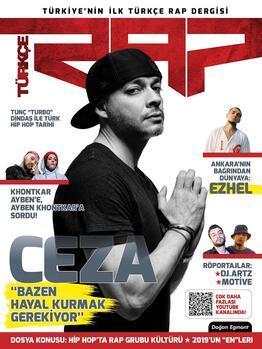 Türkiyenin ilk Türkçe rap dergisi Türkçe Rap yayın hayatına Ceza ile başlıyor